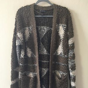 NWT Cozy Wool Open Front Long Cardigan INC